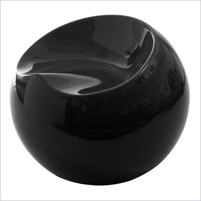 Eurostyle Digby Black Fiberglass Stool