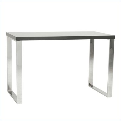 Eurostyle Dillon Desk in Gray Lacquer/Chrome