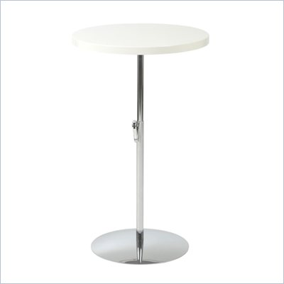 Eurostyle Ricardo Adjustable Pub/End Table with Wood Top &amp; Chrome Base