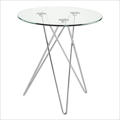 Eurostyle Zelda Round Glass End Table
