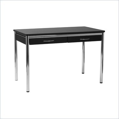 "Eurostyle Ledah 48"" W Leather Desk in Black, Brown or White"