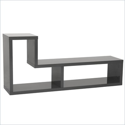 Eurostyle Mervin Media Stand in Gray Lacquer