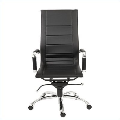Eurostyle Owen High Back Office Chair in Black/Chrome