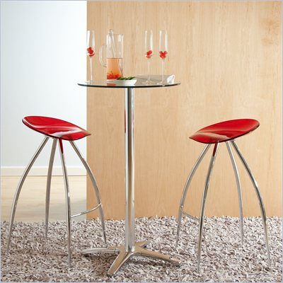 Eurostyle Rasia Counter Transparent Seat Swivel Stool