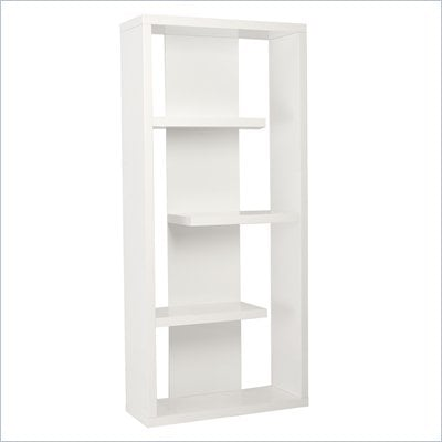 Eurostyle Robyn Shelving Unit in White Lacquer