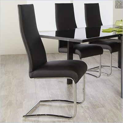 Eurostyle Rooney Low Back Chair in Black/Chrome