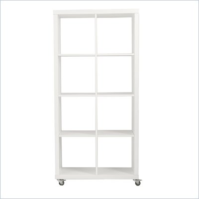Eurostyle Saul 4x2 Shelving Unit in White Lacquer