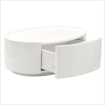 Eurostyle Selma Side Table in White Lacquer