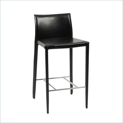 Eurostyle Shelby 26 Inch High Leather Counter Stool