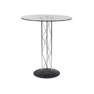 Eurostyle Taby Bar Table with 36 Inch Top and Black Base