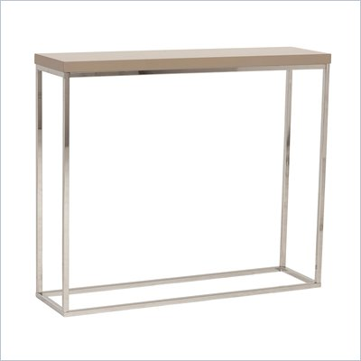 Eurostyle Teresa Console Table in Latte/Chrome