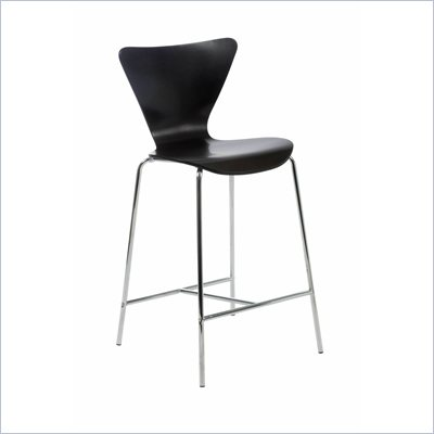 Eurostyle Tessa Wenge Finish Wooden Counter Stool
