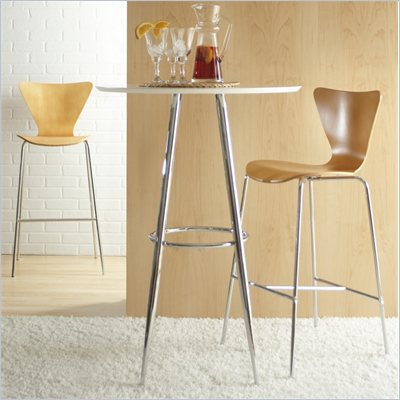 Eurostyle Tessa Natural Finish Wooden Bar Stool