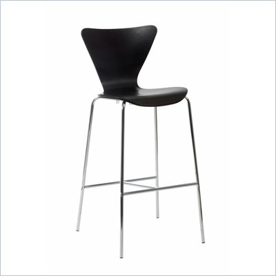 Eurostyle Tessa Wenge Finish Wooden Bar Stool