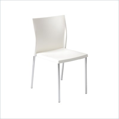 Eurostyle Yeva Side Chair in White