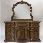 Pulaski San Mateo Triple Dresser and Mirror Set