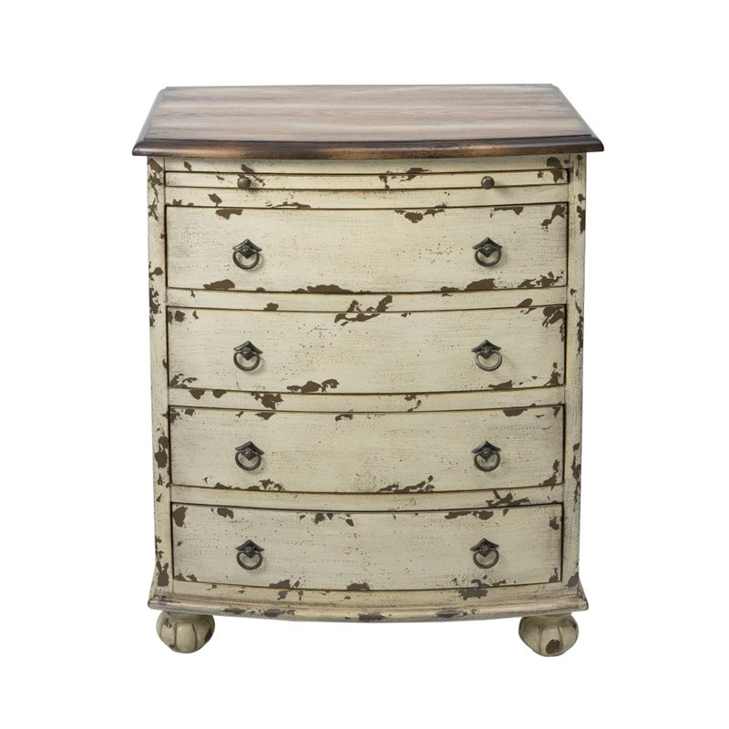 Pulaski 4 Drawer Chest in Distressed White