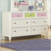 Pulaski Build-A-Bear Pawsitively Yours Kids Double Dresser in Vanilla