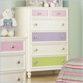 Pulaski Build-A-Bear Pawsitively Yours Kids 6 Drawer Chest in Vanilla Finish