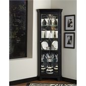Pulaski Oxford Black Corner Curio Cabinet 