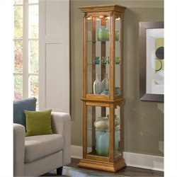 Pulaski Curios Display Cabinet in Estate Oak