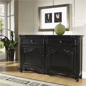 Pulaski Accents Tara Hall Chest in Black Antique Rub