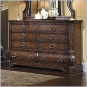 Pulaski Wellington Manor 8 Drawer Double Dresser in Cherry