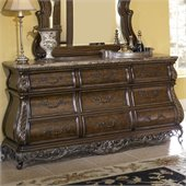 Pulaski Birkhaven 9 Drawer Dresser in Lush Mocha Finish