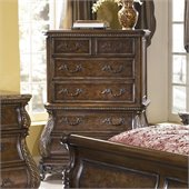 Pulaski Birkhaven 5 Drawer Tall Chest in Lush Mocha Finish