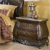 Pulaski Birkhaven 2 Drawer Stone Top Nightstand in Lush Mocha Finish