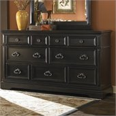 Pulaski Brookfield 9 Drawer Dresser in Ebony Finish