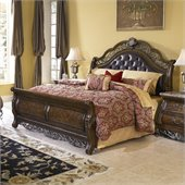Pulaski Birkhaven Sleigh Bed in Mocha Finish