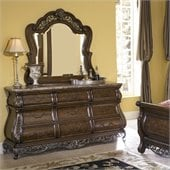 Pulaski Birkhaven Dresser and Mirror Set in Lush Mocha