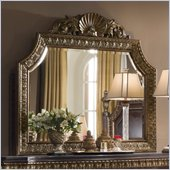 Pulaski Del Corto Mirror with Gold Dry-Brushing