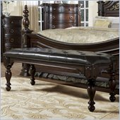 Pulaski Cassara Bed Bench in Cordovan Finish