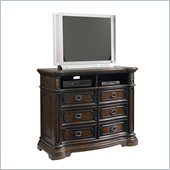 Pulaski Cassara Media Chest in Cordovan Finish