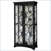 Pulaski Two Front Doors Curio in Oxford Black