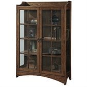 Pulaski Two Front Doors Bookcase Curio in Bennet