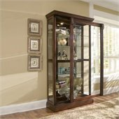 Pulaski Medallion Cherry Curio Cabinet