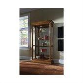 Pulaski 2 Way Sliding Door Curio Cabinet in Golden Oak