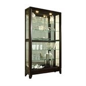 Pulaski Chocolate Cherry 46 Inch Wide Curio Cabinet