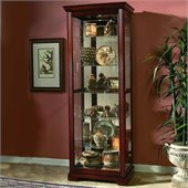 Pulaski Victorian Cherry Curio Cabinet