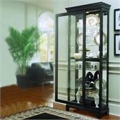Pulaski Oxford Black Curio Cabinet