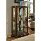 Pulaski Pepper Oak Mantel Curio Cabinet