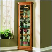 Pulaski Golden Oak II 80 Inch Tall Corner Curio Cabinet