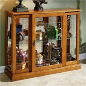 Pulaski Golden Oak III Console Curio Display Cabinet