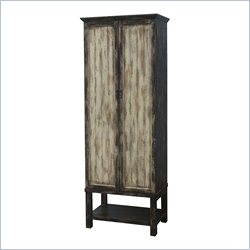 Pulaski Accents Cabinet in Earth Tones and Black Hues