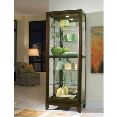 Pulaski Chocolate Cherry Curio Cabinet