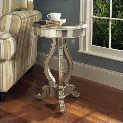 Pulaski Accents Mirrored Pedastal Table in Fantasy finish