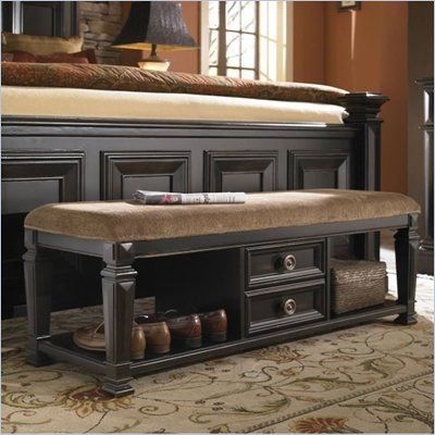 Pulaski Brookfield Bed End Bench in Ebony Finish